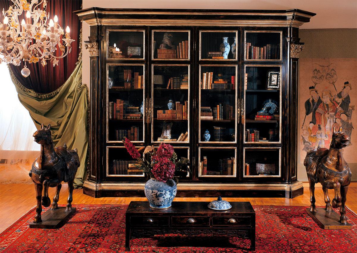 Мебель provasi. книжные шкафы и витрины от фабрики провази.